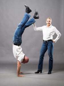 Christian und Susanne, Christian im Handstand