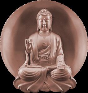 Buddha Figur kupfer