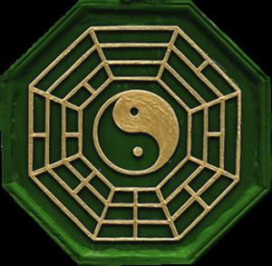 Yin-Yang Symbol grün