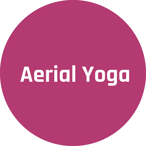 Körperspüren Aerial Yoga, Schriftzug