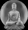 Buddha Figur silber