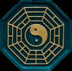 Yin-Yang Symbol blau