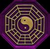 Yin-Yang Symbol violett